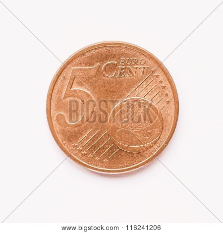 5 Cent Coin Vintage