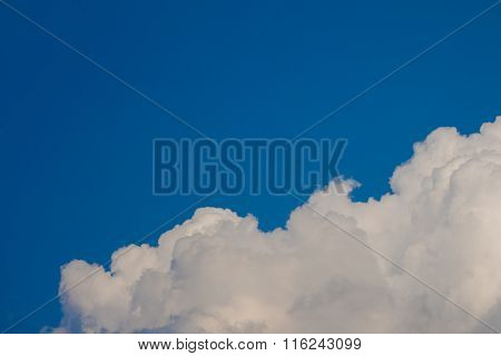 Softly Cloud With Blue Sky