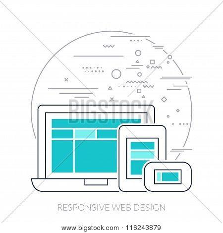 Thin Line Icon. Responsive Web Design