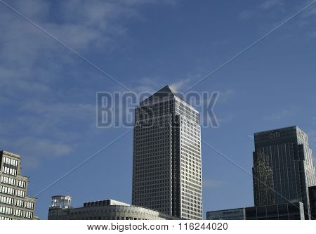 One Canada Square from Westferry road