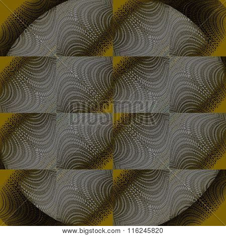 Seamless squares pattern gray laces on gold brown