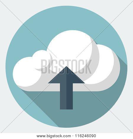Vector upload flat icon