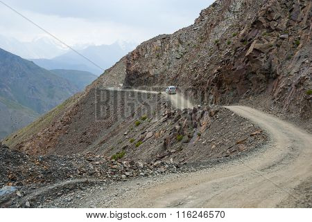 Car On The Mountain Road