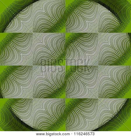 Seamless square pattern gray lime green