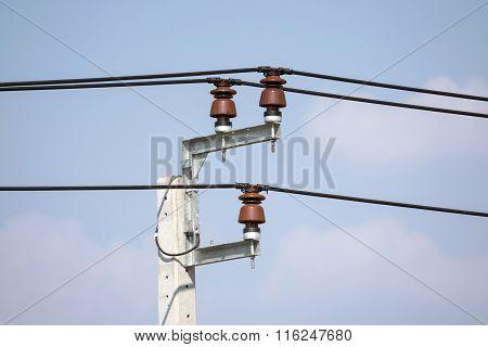 Power Line Insulators.