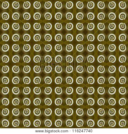 Seamless diamond and spirals pattern gold brown gray