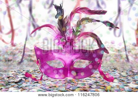 Carnival Party time back mask