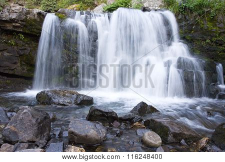 Mountain Waterfall In Cololrado