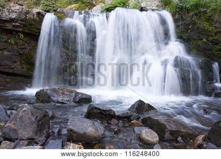 Mountain Waterfall In Cololrado