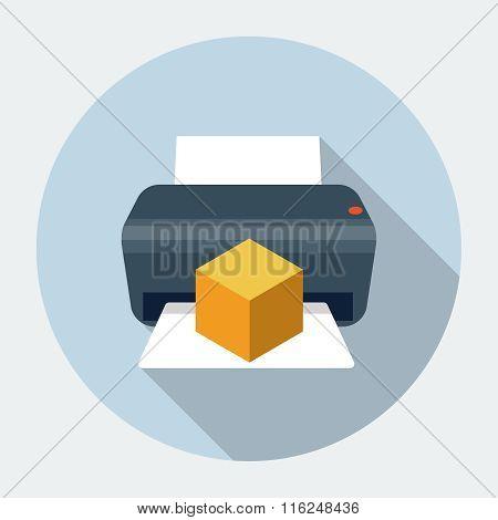 Vector 3D printer icon