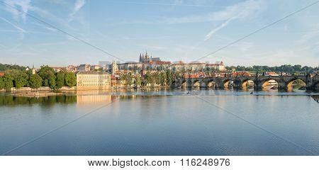 View Of Prague From Moldava River - Prague- Czech Republic