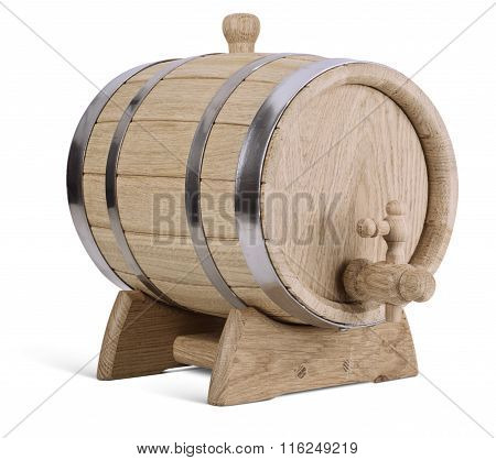 Oak Wooden Barrel
