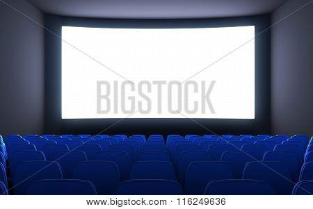 Empty Cinema And White Screen