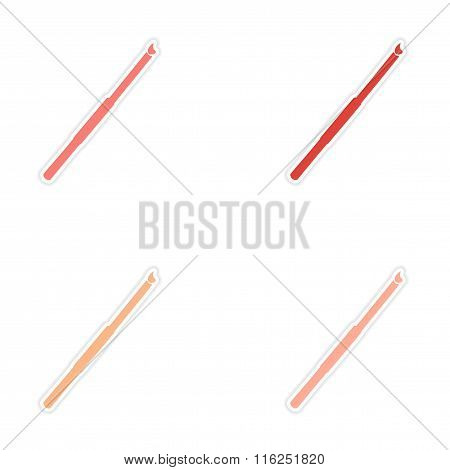 assembly realistic sticker design on paper cigarette holder