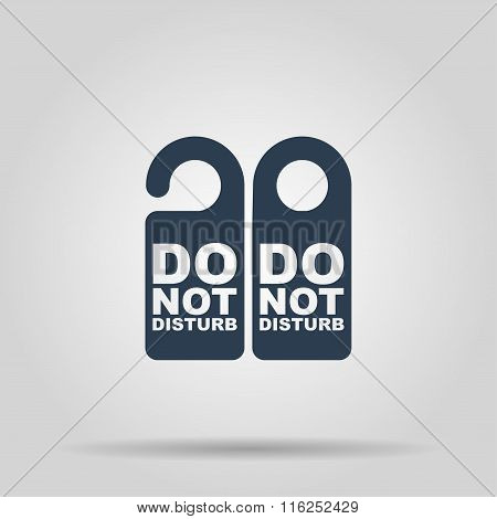 Do Not Disturb Sign. Vector Illustration