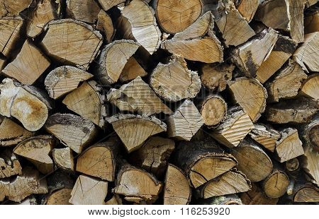 Pile Of Chopped Wood