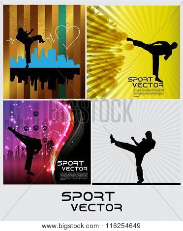 Sport. Karate illustration