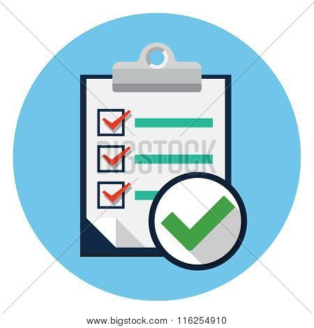 Vector checklist flat icon