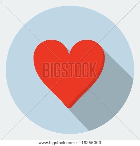 Vector heart flat icon