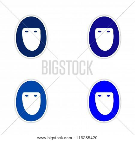 assembly realistic sticker design on paper hijab