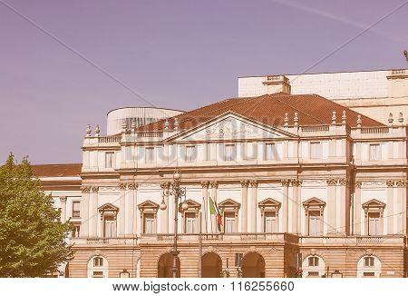 Teatro Alla Scala In Milan Vintage