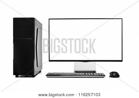 Desktop computer isolated.