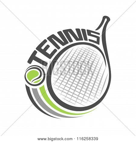The image of a tennis racket and the ball