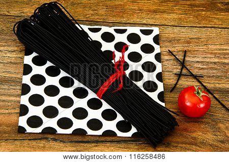 Black Pasta, Spaghetti Squid Ink, Seefood