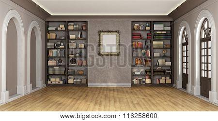 Luxury Interior With Bookcase