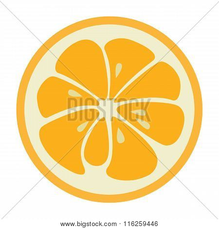Orange stylish icon. Juicy fruit logo
