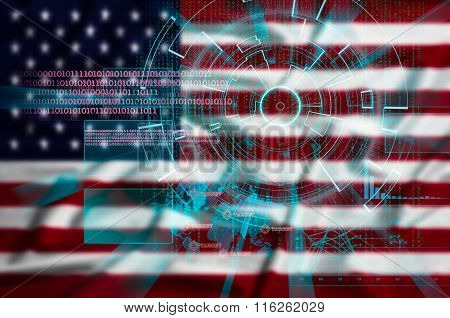 Cyber Target Security On Intentionally Blurred United States  Fl