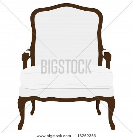 Vintage White Armchair
