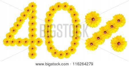 Figures 40% Of The Letters Written By Flowers