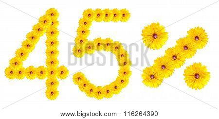 Figures 45% Of The Letters Written By Flowers