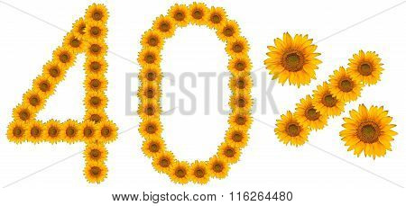 Figure Of 40% Of The Written Text Colors Sunflowers