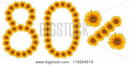 Figure Of 80% Of The Written Text Colors Sunflowers
