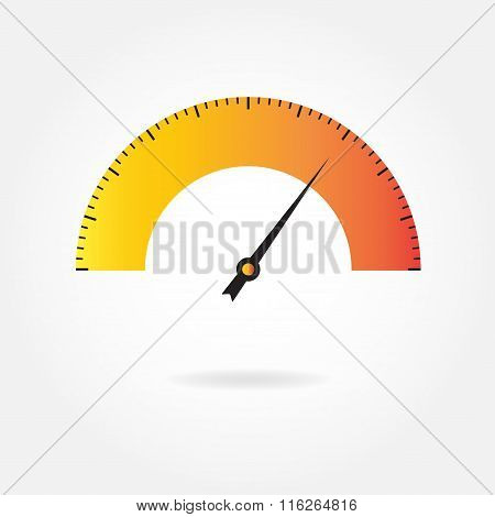 Speedometer icon or sign. Infographic element. Download percent meter. Vector illustration.