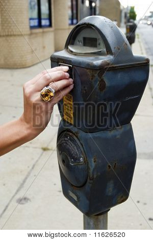 Feeding the parking meter
