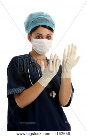 Nurse With Gloves