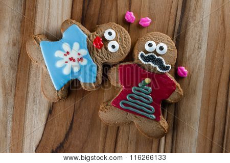 Funny Holiday Gingerbread Cookies