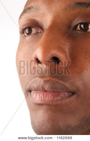 Black Man Closeup