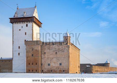Hermanni Linnus Or Herman Castle. Narva Town. Estonia