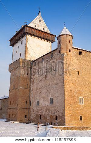Herman Castle In Winter, Narva. Estonia
