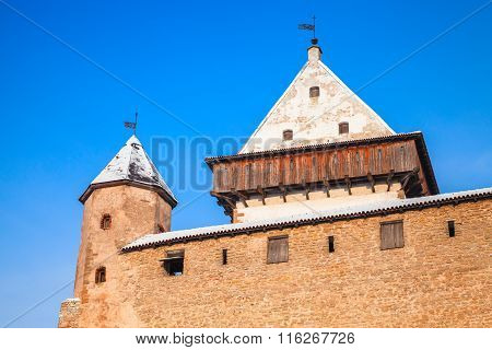 Tower And Walls Of Herman Castle In Narva. Estonia