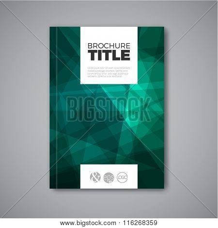 Modern Vector abstract teal brochure / book / flyer design template