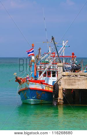 Fishing Boat At The Pier (thailand).