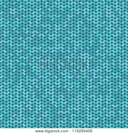 Vector Knitted Seamless Pattern, Knitting Craft Background