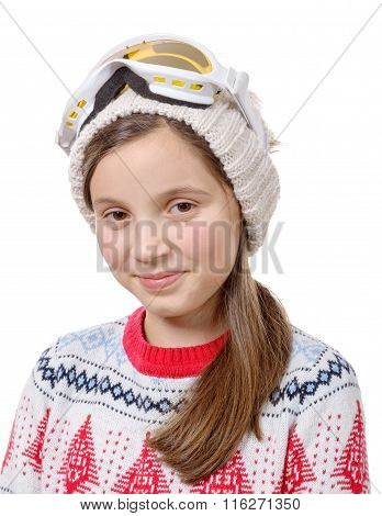 Pretty Little Girl With Winter Clothes