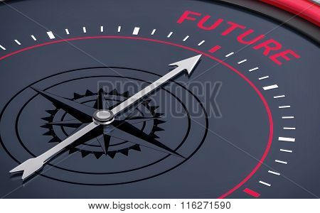 3D Compass. Future Word