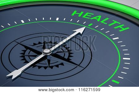 3D Compass. Health Word